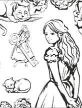 Отрисовка персонажей для  витрины Алисы в стране чудес